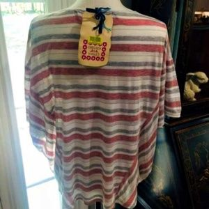 Chelsea & Violet Tops - Chelsea & Violet Knit Top Striped Batwing Size XS